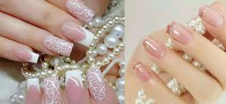 ideas for wedding nail for bride and bridesmaids nail art