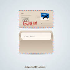retro airmail envelope vector free download