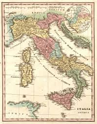 Roman Map Ancient Map Of Italy At The Time Of The Roman Empire Italia
