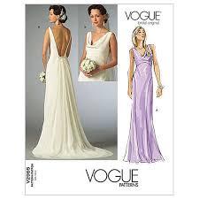 dress pattern john lewis vogue women s bridal original dresses sewing pattern 2965 at john lewis