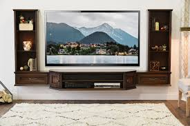 transitional wall mount floating tv stand entertainment center