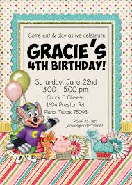 Birthday Invitation E Card Chuck E Cheese Birthday Invitations U2013 Gangcraft Net