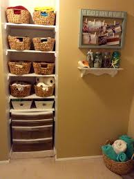 beachy linen closet makeover opens up the hall for easier access