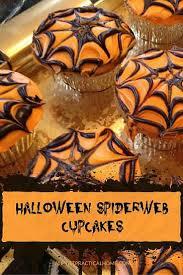 halloween cupcakes spiderweb design