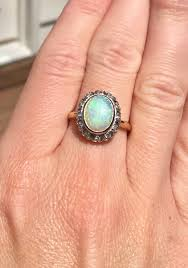 vintage opal engagement rings vintage opal and diamond ring loupe troop