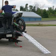 motocross bike trailer arched plate style folding motocross ramp 7 u00275