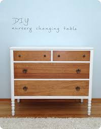 Nursery Changing Table Dresser Nursery Diy Changing Table Lingering Daydreams