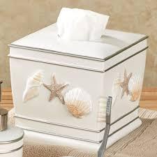 cape cod coastal seashell bath accessories