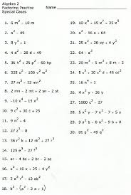 factoring polynomials practice worksheet with answers worksheets