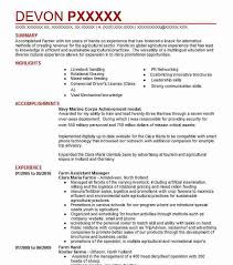 best agricultural assistant manager resume example livecareer