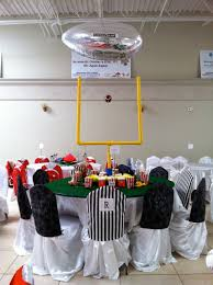 Football Banquet Centerpiece Ideas by Charity Sports Themed Dinner Football Decoration