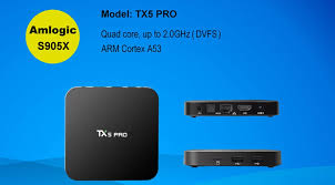 android pro tx5 pro tv box amlogic s905x h 265 with dual wifi us 57