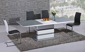 High Gloss Extending Dining Table Arctic Grey And White High Gloss Extending Dining Table Dtx 2104gw