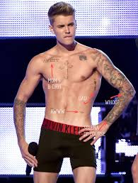 bieber explains what all of his tattoos