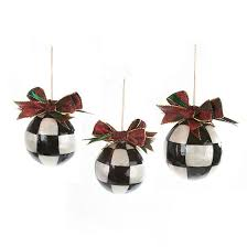 mackenzie childs jester fancy ornaments small set of 3