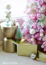 pink u0026 gold christmas tree love the day