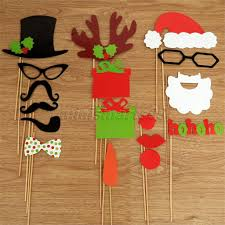 aliexpress com buy 17pcs diy mask photo booth props christmas