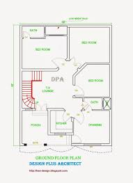 6 1 kanal house drawing floor plans layout with basement in dha