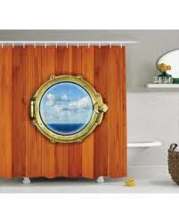 holiday deal on nautical decor shower curtain set porthole on the