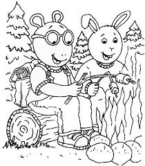 arthur coloring pages printable images kids aim