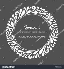 floral round frame vector floral decoration stock vector 215784211