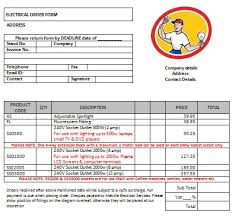 13 free electrical invoice templates download demplates
