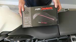 new air hawk motorcycle seat cushion review and install youtube