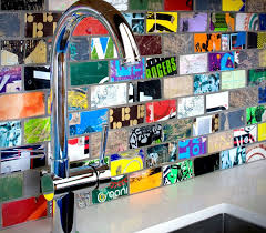 Unique And Inexpensive DIY Kitchen Backsplash Ideas You Need To See - Recycled backsplash