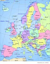 Maps Of Europe by Map Of Europe Continent Illustration