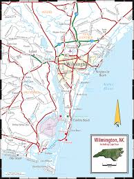 Wilmington Nc Zip Code Map by Map Of Wilmington North Carolina Afputra Com