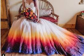dip dye wedding dress dip dye wedding dresses is the trend would you try it