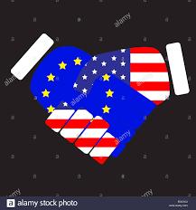 Usa Flag Photos Symbol Sign Handshake European Union And Usa Flag Union European