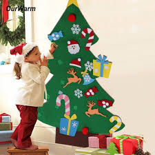 ourwarm new year gifts diy felt tree decorations