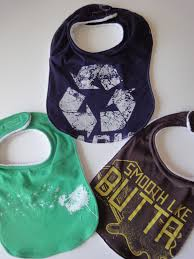 t shirt baby bib upcycle old t shirts and save money on supplies