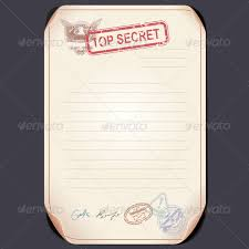 top secret document on table vector template by pilart
