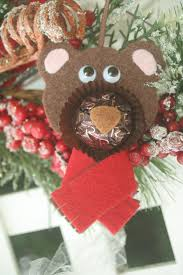 rocher chocolates reindeer teddy polar felt