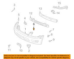 lexus is300 throttle position sensor lexus toyota oem 01 05 is300 front bumper bumper cover clip