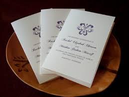 bi fold wedding program fleur de lis wedding program flyoung studio