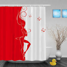 Beautiful Shower Curtains by Online Get Cheap Silhouette Shower Curtains Bathroom Curtain