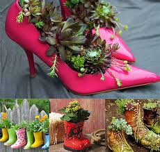 unusual containers for gardening outdoor flower pot ideas