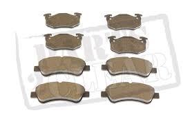 brand new peugeot peugeot 206 front u0026 rear brake pads set 1 4 1 6 2 0 hdi gti cc