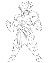 dragon ball broly coloring u0026 coloring pages
