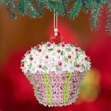 sequin cupcake ornament ornaments