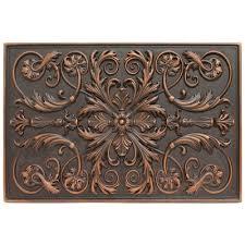 kitchen backsplash metal medallions soci metal resins tile plaque ssgv 1221 kitchen backsplash