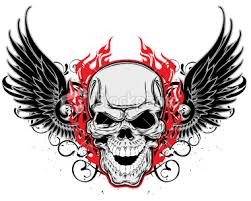 winged skull design photo 3 photo pictures and sketches