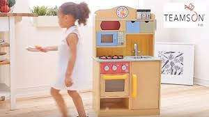 kids toy kitchen review and pretend wooden food cooking toys fun
