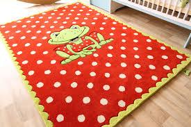 teppich kinderzimmer kinder teppich oskar der frosch die spiegelburg teppich punkte