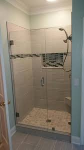 Shower Doors Raleigh Nc Shower Custom Frameless Shower Doors Clever Notched Panel