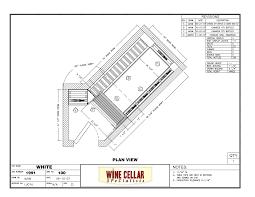 custom wine cellars chicago under stairs plan drawing custom