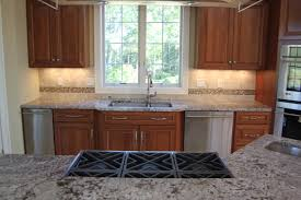 granite countertop kitchen designs with white cabinets and